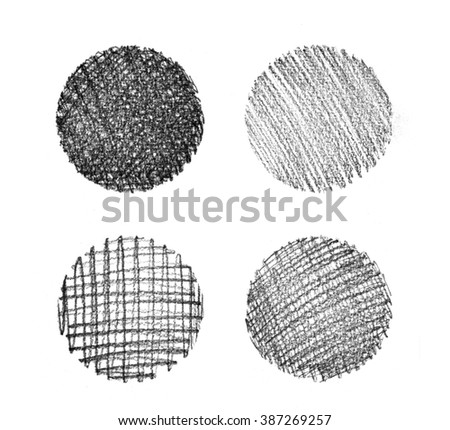Set of abstract hand drawn grunge textures.