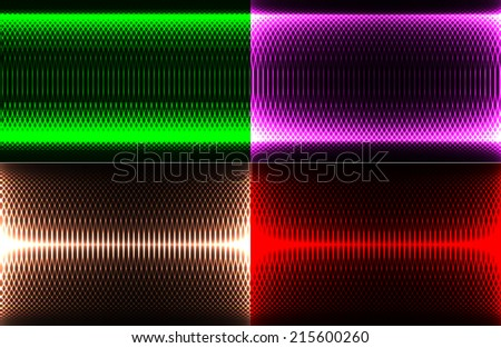 set of abstract illustration splash color glowing background with place for your text - stock photo