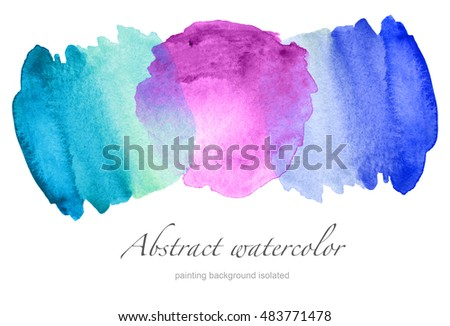 Set of Abstract watercolor painted background isolated.