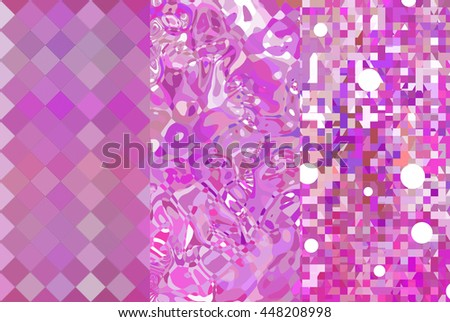 Set of abstractions picture. Three background pink.