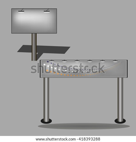 Set of Advertising elements. Templates for your design. Billboard set . - stock photo