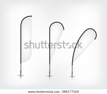 Set of advertising promotion flag banners - stock photo