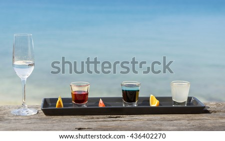 Set of alcohol drinks - stock photo