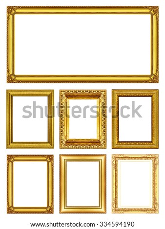 Set 6 Antique Gold Picture Frames Stock Photo (Royalty Free ...