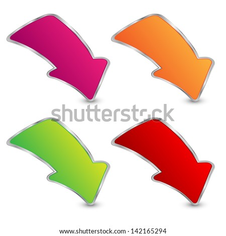 set of arrows on a white background.raster copy of vector file