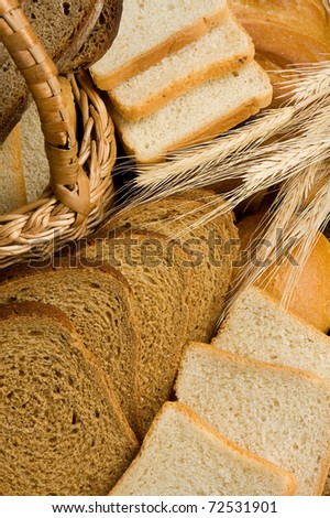 set of bakery products as background