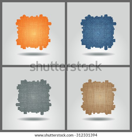 Set of banner templates with abstract background.  - stock photo