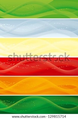 Set of banners with blend lines. Abstract  backgrounds with  blend lines for internet banners