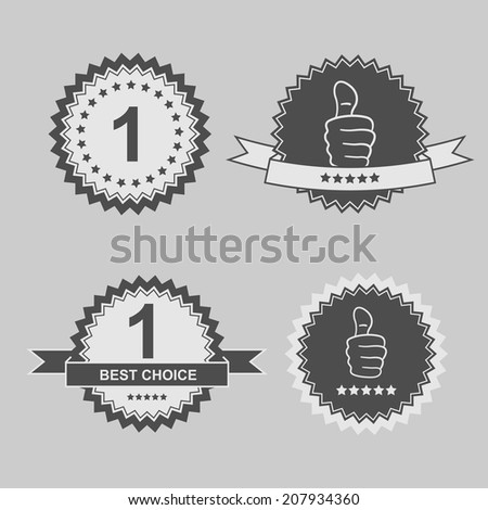 "set of ""best choice"" stickers - stock photo"