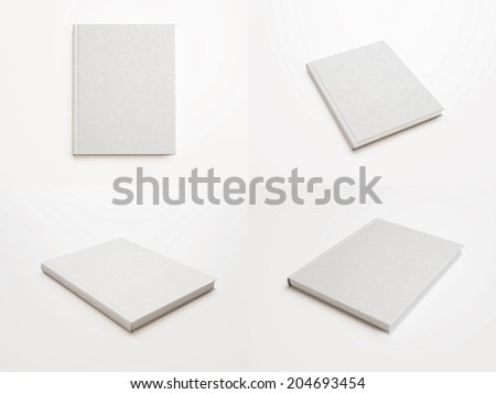 Set of blank books - stock photo