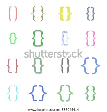 Curly Braces Stock Images, Royalty-Free Images & Vectors ...