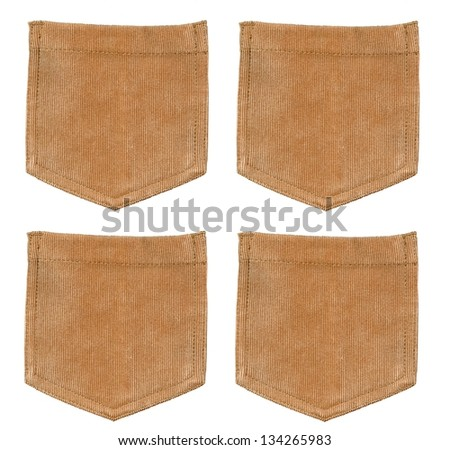 Set of brown corduroy pockets