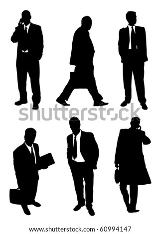 Set of buisnessmen's silhouettes