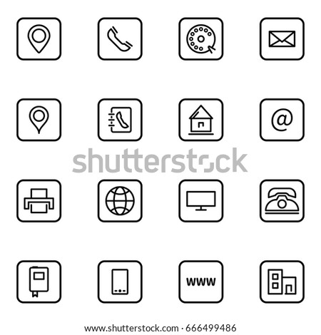 Set business card thin line icons stock illustration 666499486 set of business card thin line icons colourmoves