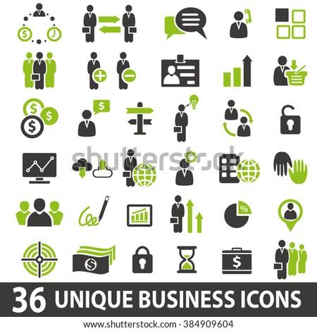 Set of 36 business icons. Business icons set. Business icons illustration. Business icons set jpeg - stock photo