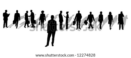 set of business silhouettes