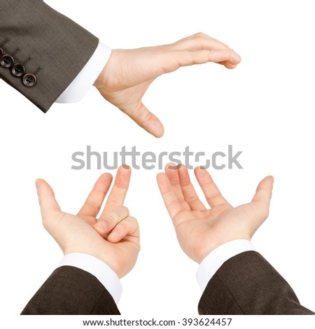 Set of businessman hands