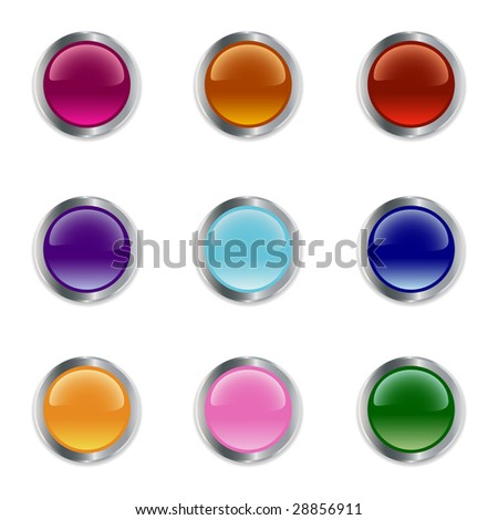 Set of buttons different colors