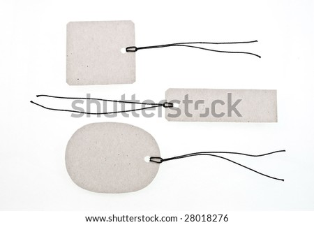 Set of cardboard tags - stock photo