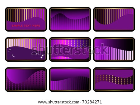 set of cards. business cards. visiting cards. gift cards. The similar image in my portfolio in vector format. - stock photo
