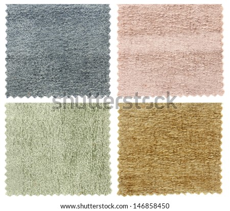 set of carpet swatch texture samples - stock photo
