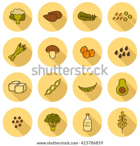 Set Cartoon Hand Drawn Objects On Stock Illustration 423786859