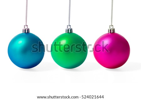 Set of Christmas balls isolate on white background