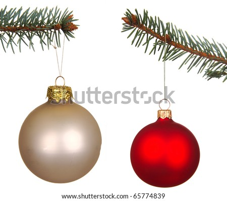 Set of Christmas Balls isolated on white