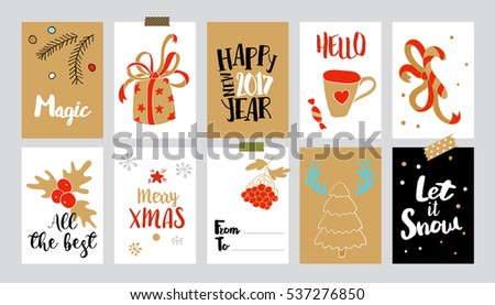 Set christmas gift tags raster copy 537276850 set of christmas gift tags raster copy colection with doodle illustrations and typography sketch negle Image collections