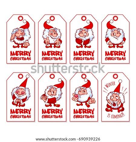 Set christmas gift tags cute shaggy 690939226 set of christmas gift tags with cute shaggy gnome holiday label ready to negle Choice Image