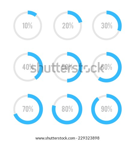 Set of circle diagrams for infographics - stock photo