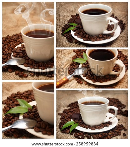 Set of coffe cups - stock photo