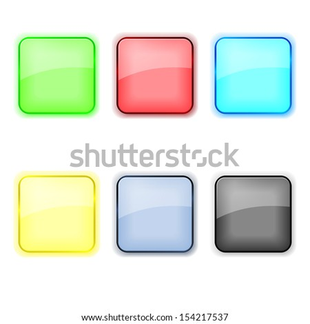 Set of color apps icons in pastel tones.