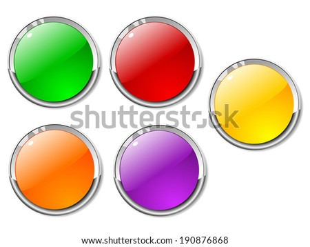 Set of color buttons 4