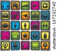 Set of color  web icons - stock photo