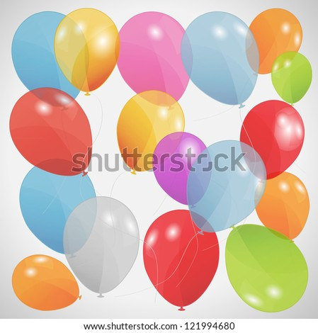 set of colored balloons. Raster version. - stock photo