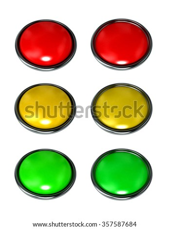 set of colored buttons for the web site