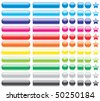 Set of colored buttons, illustration - stock photo