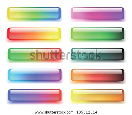 Set of colored buttons.  Raster version - stock photo