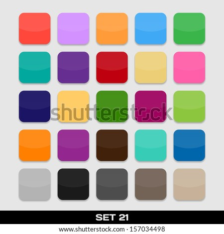 Set Of Colorful App Icon Templates, Frames, Backgrounds. Set 21. Raster version