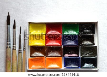 set of colors for drawing - stock photo