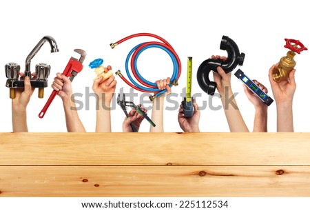 Set of construction tools. House renovation background. - stock photo