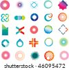 set of corporate logos symbols and marks - stock vector