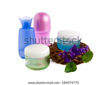 set of creams for body care