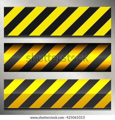 Set of Danger and Police Warning Lines.