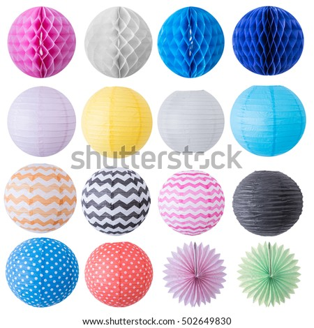 set of decorative ball for birthday, wedding and party decor