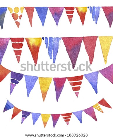 Set of decorative banners - stock photo