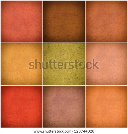 Set of different colorful wall collage - stock photo