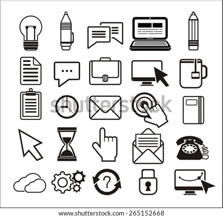 set of different mouse cursors hand cursor hourglass