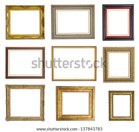 Set Different Picture Frames Isolated On Stock Photo 137843783 ...